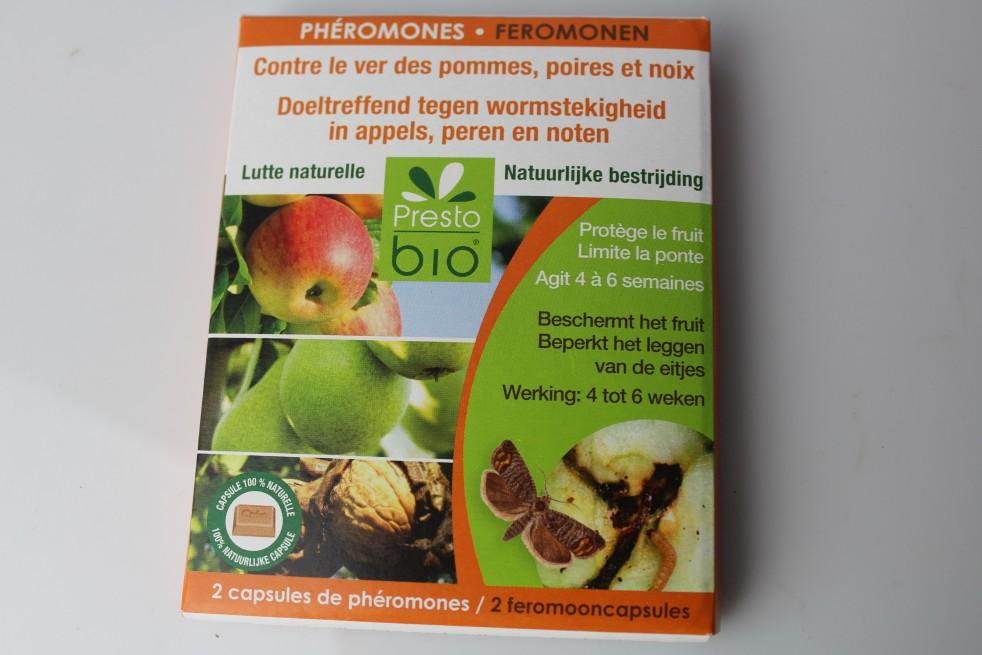 Phéromones contre le ver des pommes, poires et noix