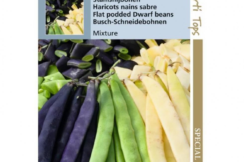 Haricots nain sabre mélange trois couleurs